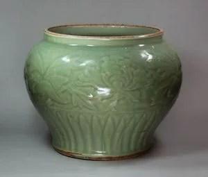 七官青磁花瓶