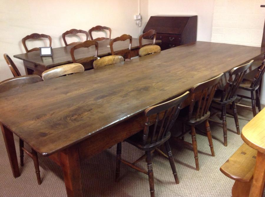 Large Antique Dining Table , Antique French Farmhouse