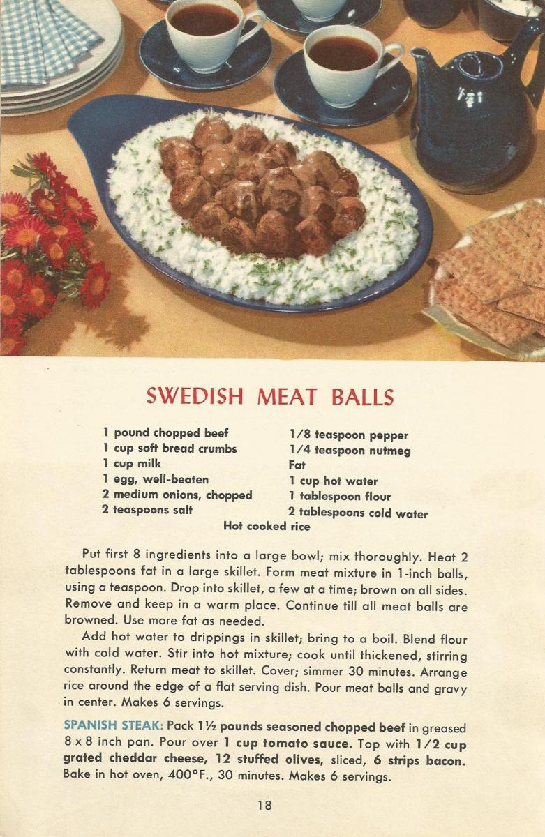 Vintage Recipes 1950s Meat Recipes 7