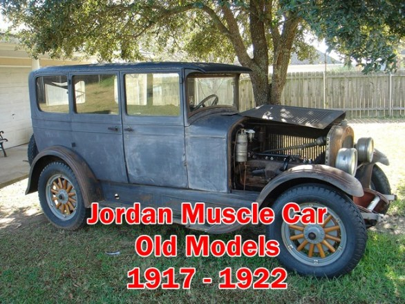 The Jordan Muscle Car ( 1917 - 1922 ) Old School Models and Spare parts information Include Engine,Cylinders,Battery,Tires,Rims,System details.