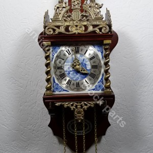 Zaandam blue delft clock tiles