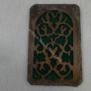 Fretwork sound windows wood finished