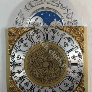 Engraved brass dial