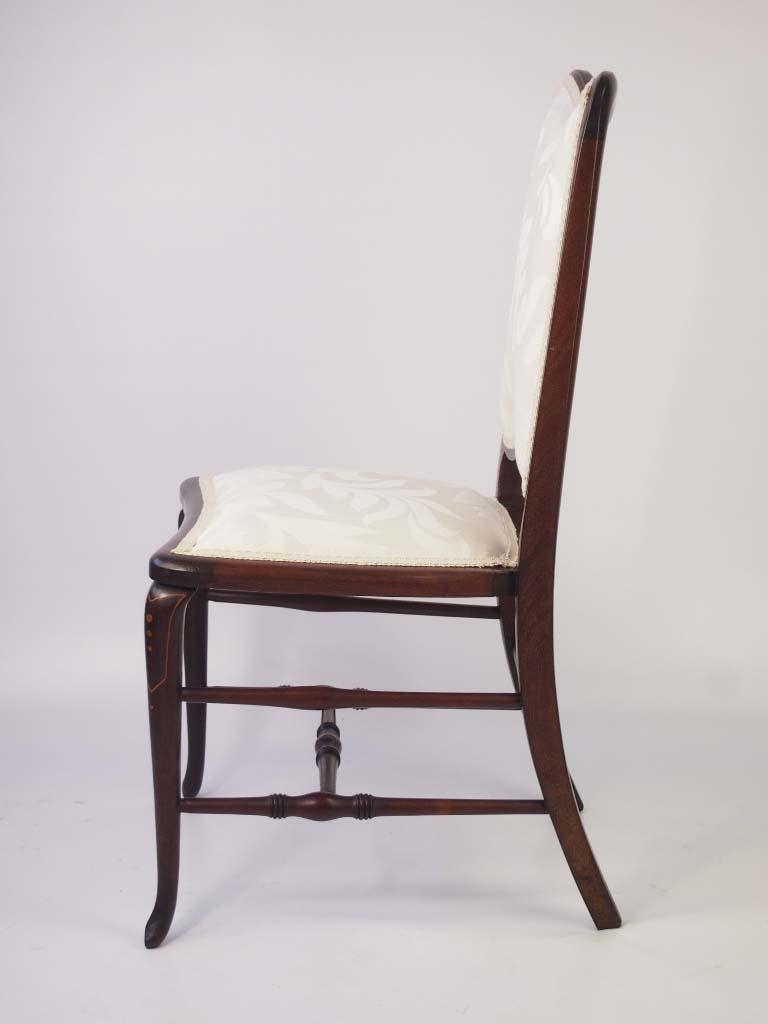 Small Edwardian Mahogany Amp Inlaid Dressing Table Chair