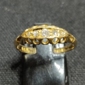 Edwardian Diamond Boat Ring