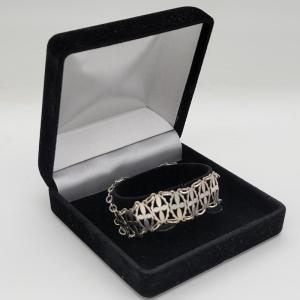 Vintage Silver Cross Link Bracelet