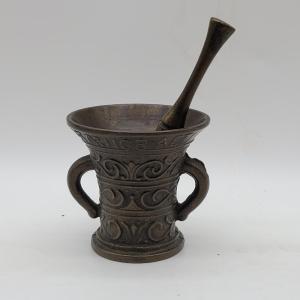 Fabulous Antique Bronze Mortar & Pestle