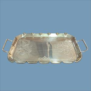 Classy Arts And Crafts Brass Tray