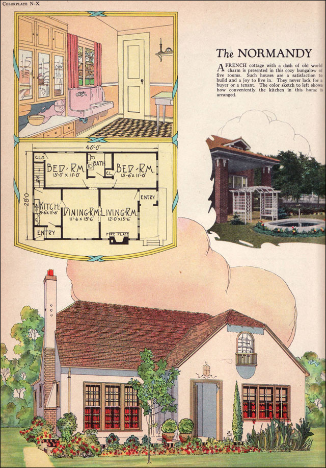 The Normandy Small French Eclectic Cottage 1925