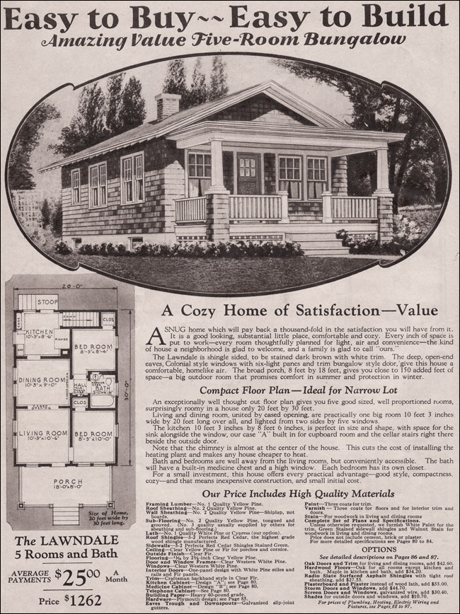 Montgomery Ward Kit House Lawndale 1930 Traditional
