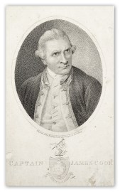 Captain James Cook - Antique Print from 1837