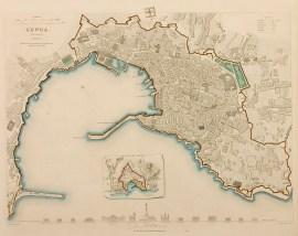 Genoa (Genova) (Genes) - Antique Map from 1859