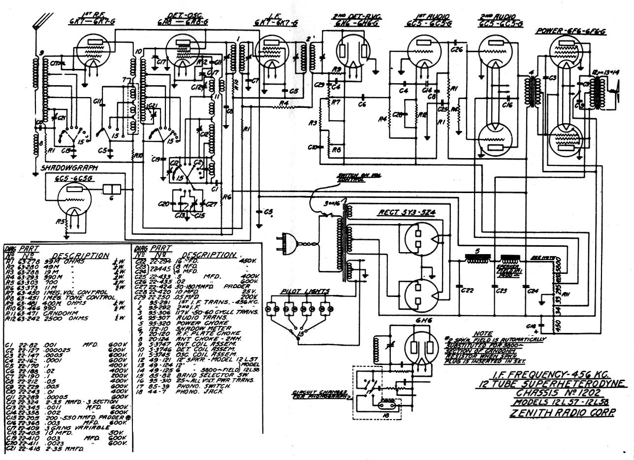 Zenith Tube Amp Schematic