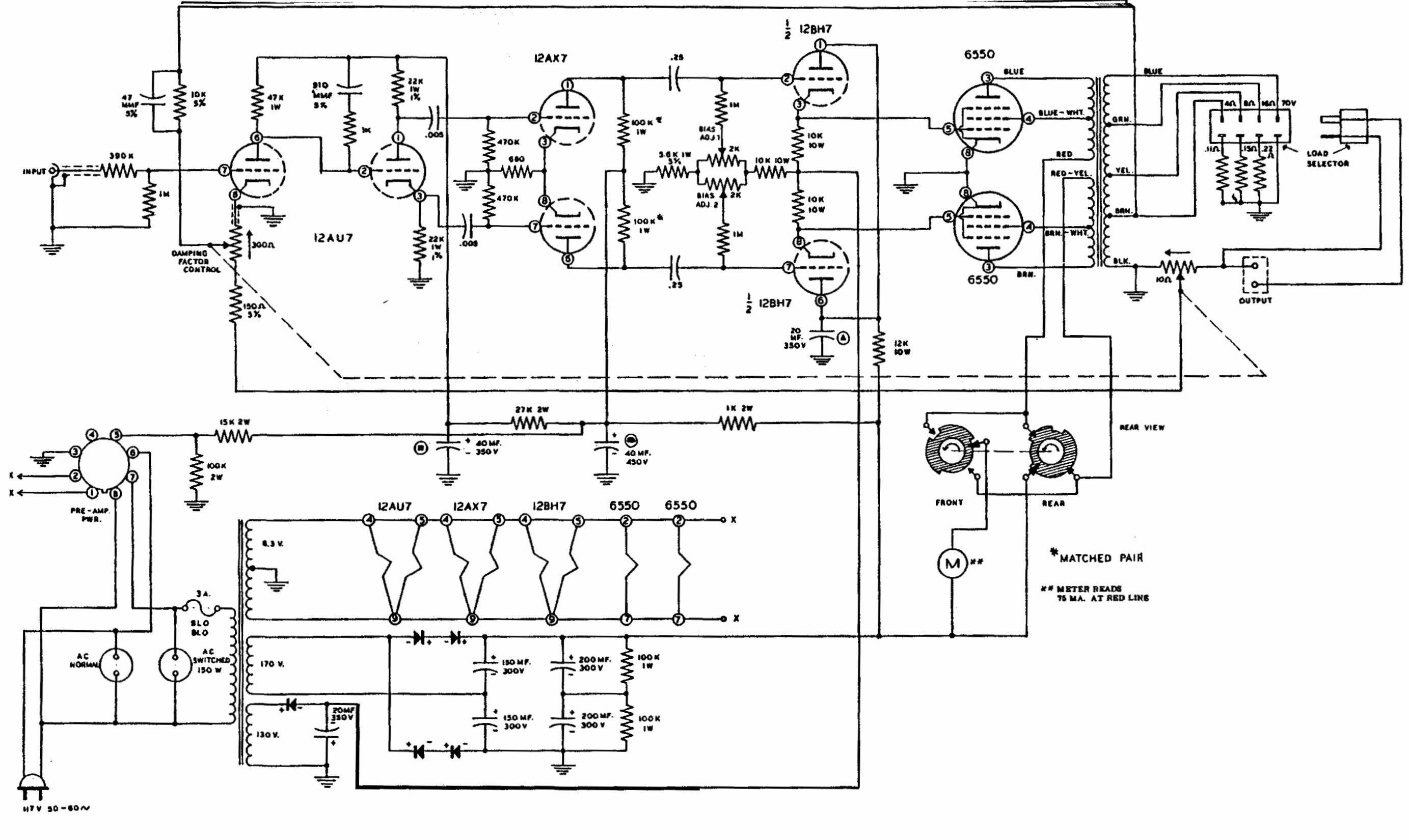 Heathkit Model W 6m High Fidelity Amplifier