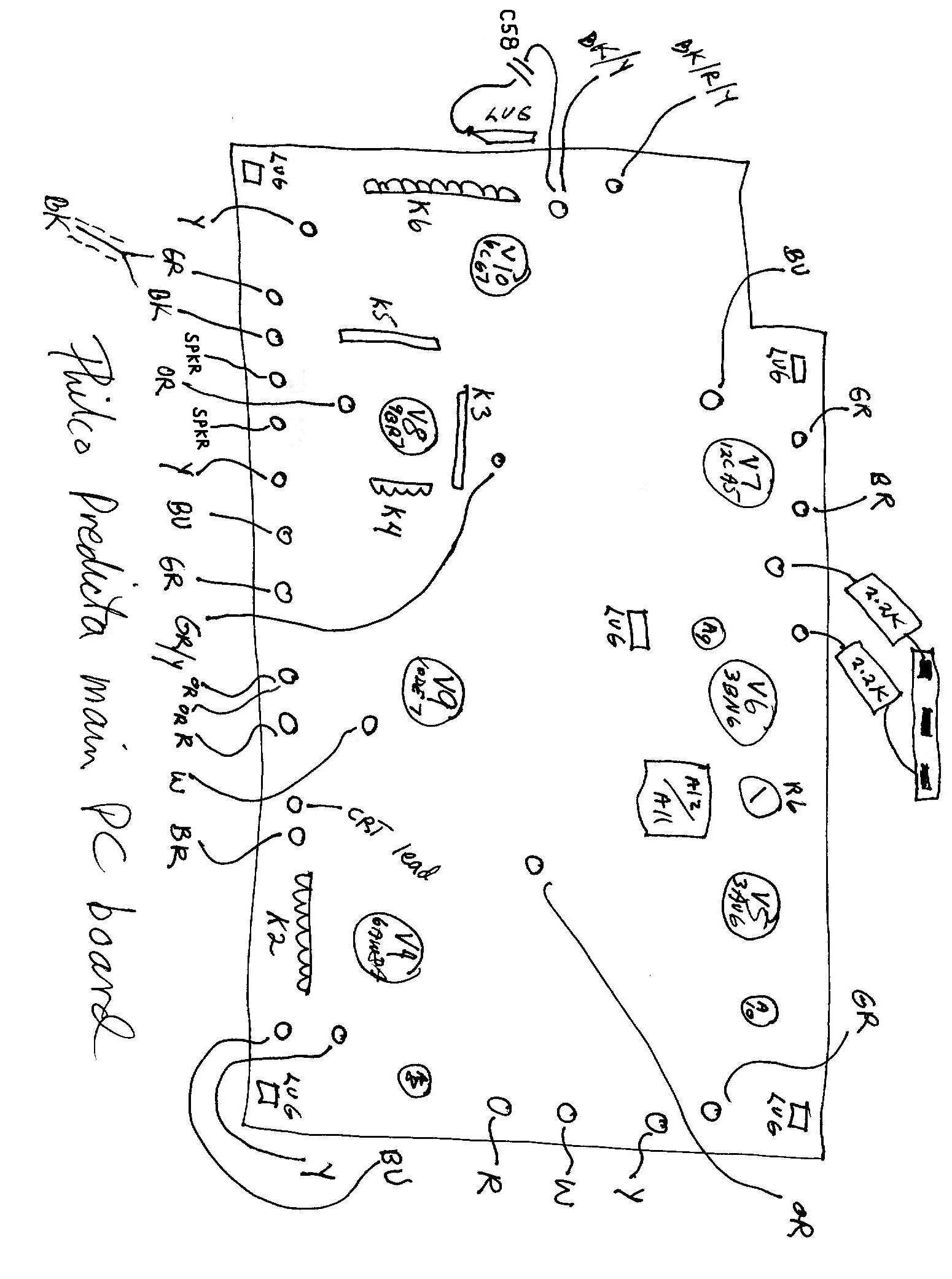 Philco model 4654 predicta television 1958
