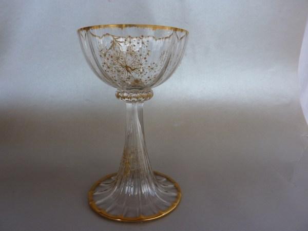 Daum Nancy champagne glass c1890