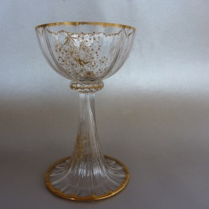 Daum Nancy champagne glass c1890
