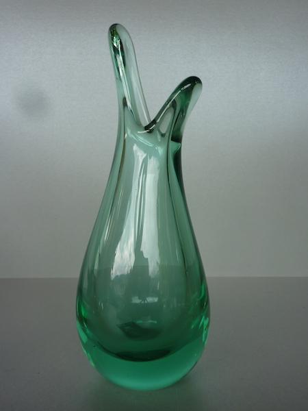 holmegaard glass vase Per Lutkin