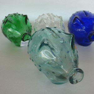 holmegaard glass piggy bank