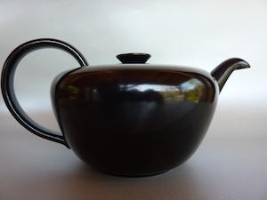 Fritz Haussmann Bauhaus black teapot Switzerland