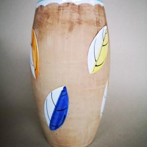 Bitossi enamelled leaf vase c1950s