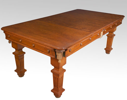 Oak Snooker/dining Table For Sale