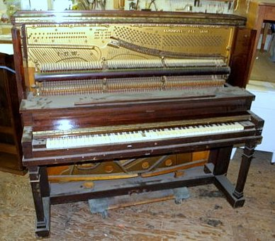 Piano Refinishing - Before