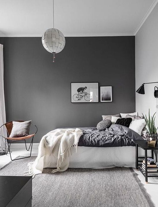 Slate Grey Wall Ideas For Bedroom Antiques Decor