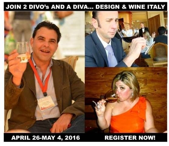 Design & Wine Italy, Toma Clark Haines, The Antiques Diva, Wine Tours of Italy, Venice Tours, Adam Japko, Esteem Media, Jeremy Parzen, Italian Wine, Italian Design Tours, Fruily-Venezia