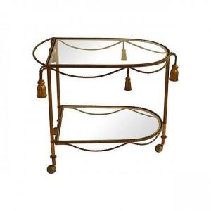 Antiques Diva Styles a Diva Den for Chairish Bar Cart
