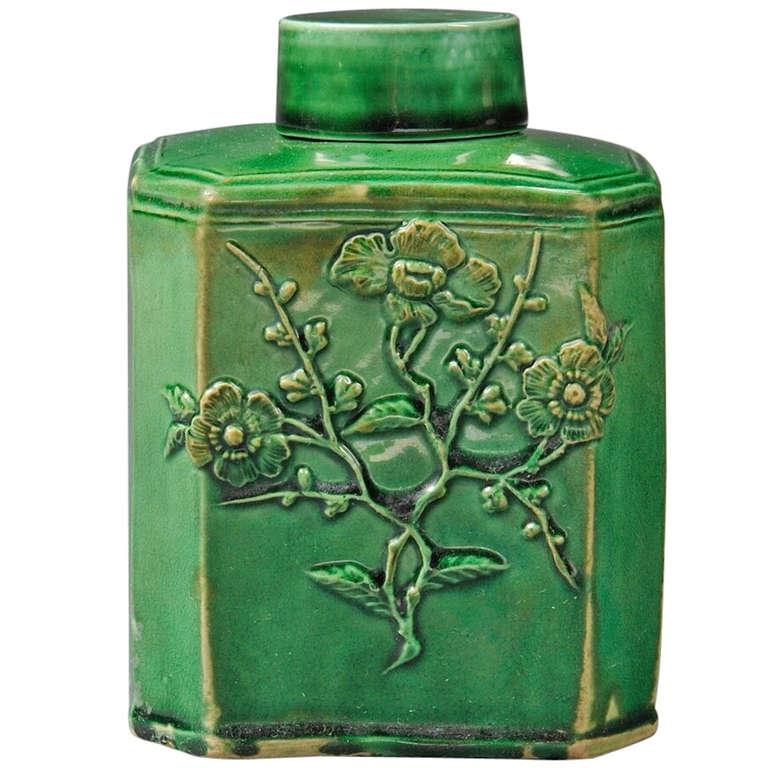 English Tea Caddy- glazed