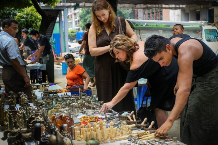 Street Market Vendors Yangon Myanmar (Burma) Asia Antiques Buying Tours with The Antiques Diva