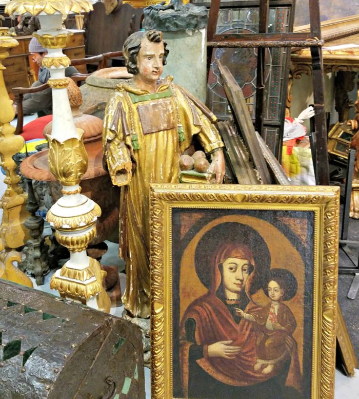 Lolo French Antiques Mercanteinfiera 2017 Religious Antiques Booth