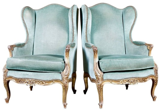 French chairs at Lolo French Antiques: Bergere a Oreilles