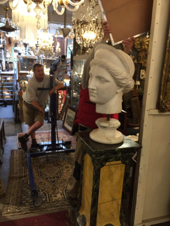How to ship large fragile antiques: In the shop - Crating, packing and shipping antique statuary