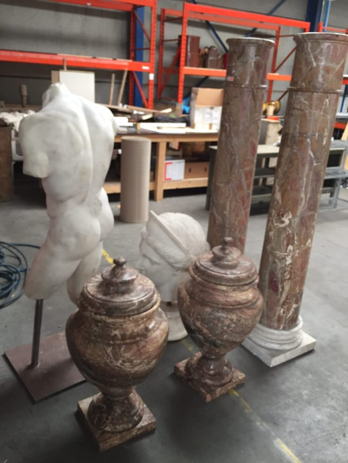AD&CO Logistics warehouse: Crating, packing and shipping antique statuary