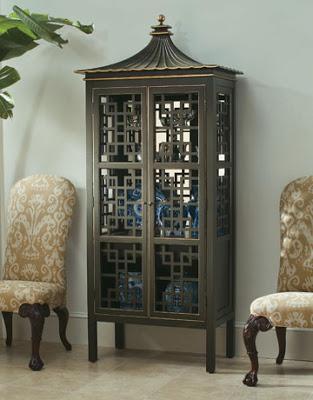 Oscar de la Renta Pagoda Bar Cabinet Century Furniture