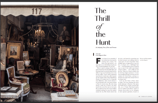 Rose & Ivy Journal ROSE & IVY Journal Oct 2 2017 THE THRILL OF Rose & Ivy Journal: THE Thrill of the HUNT: An Antiquing Tour of Paris and Provence
