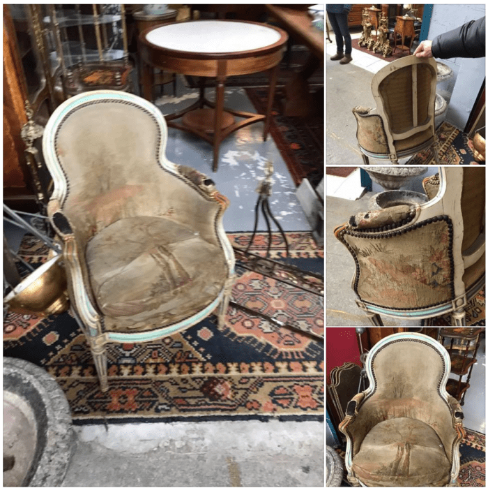 Sourcing chairs at the Paris Flea Market with The Antiques Diva