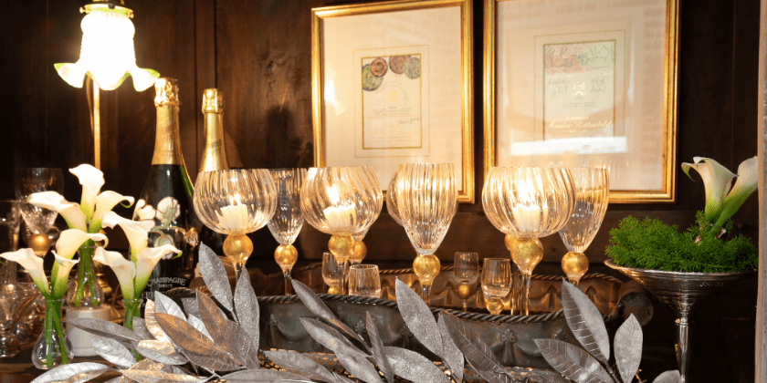 Stocking the Bar for Holiday Entertaining: Bar Essentials and Styling | Toma Clark Haines | The Antiques Diva & Co