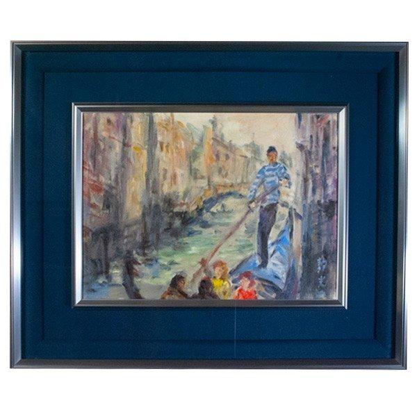 上條静光 「ベニス(ヴェネツィア)」 油彩 4号 絵画