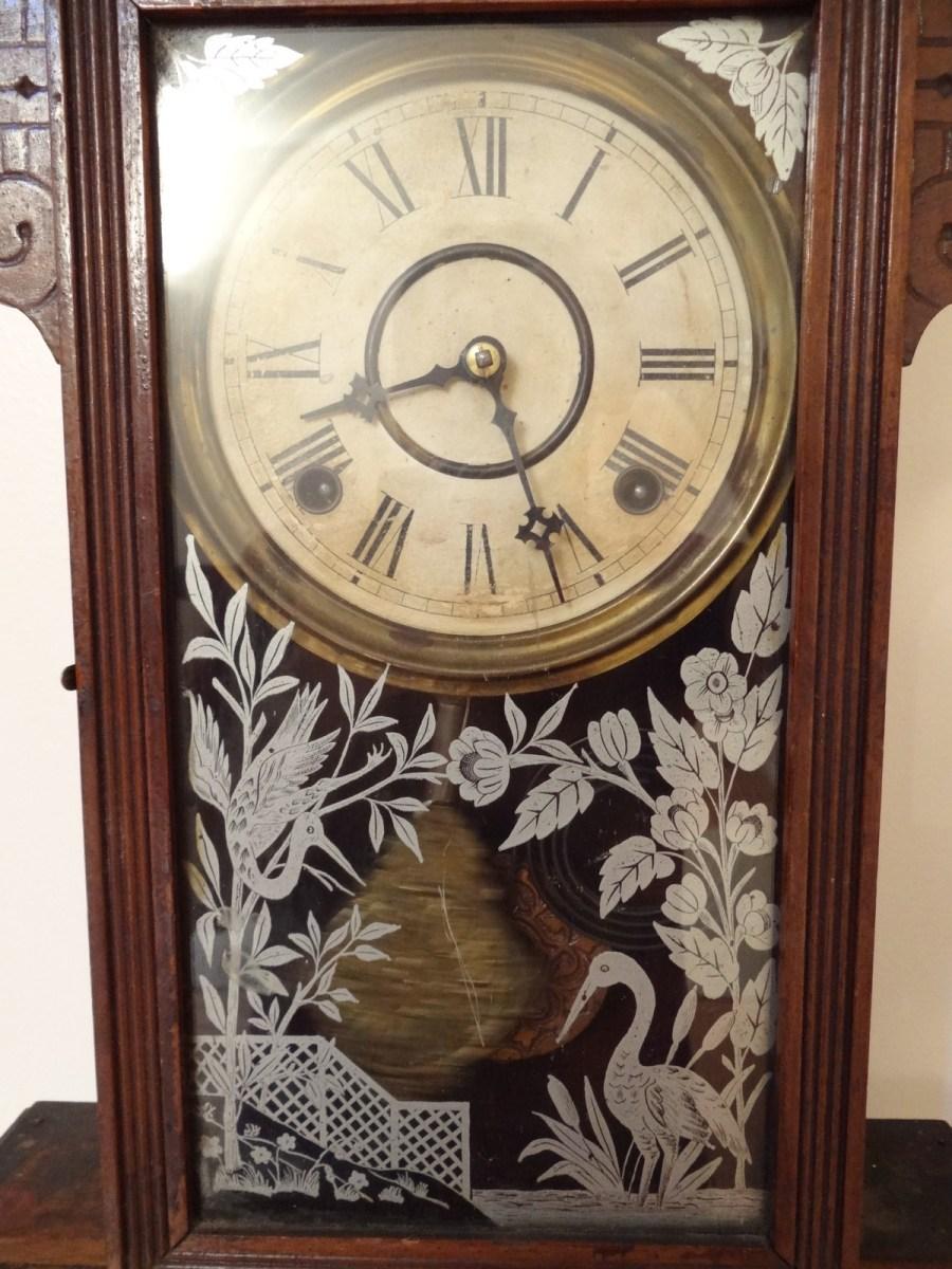 Antique William Lewis Gilbert Mantle Clock (2)