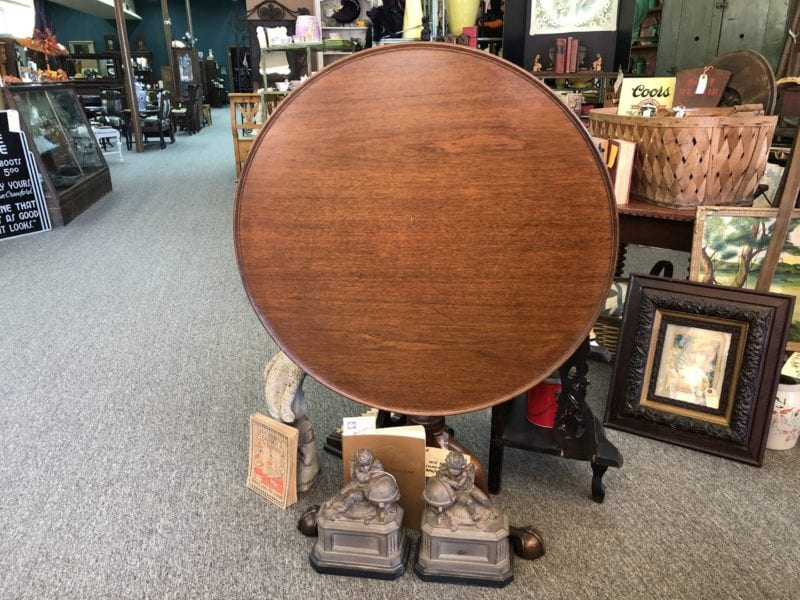 AE Convertible Round Antique Table