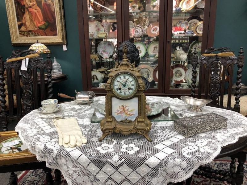 AE Ornamental Antique Clock with Cherubs