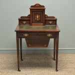Stunning Victorian Inlaid Rosewood Ladies Writing Desk Antiques World