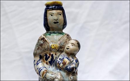 vierge d'accouchee statuaire religieuse
