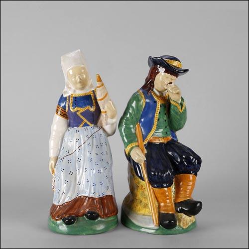 figurines artistes faiences de quimper