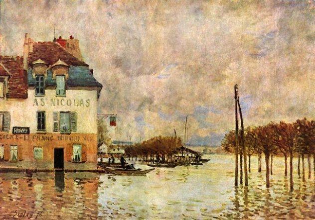 Alfred Sisley l'inondation à port Marly