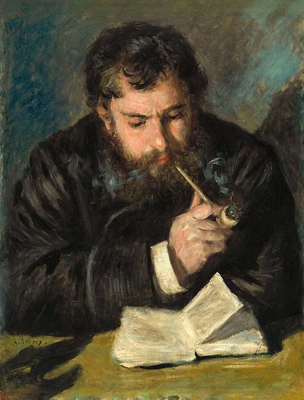 Claude Monet par Auguste Renoir