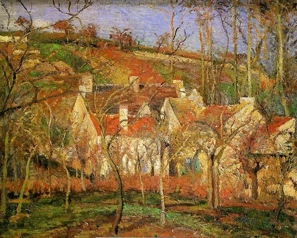 Camille Pissarro les toits Rouges
